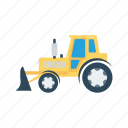 construction, farm, tractor, transport, vehicle