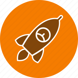 launch, launcher, rocket, satellite, space, spaceship icon