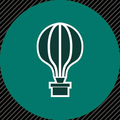 air balloon, balloon, fly icon