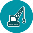 construction, crane, heavy, lifting, machine, truck, work icon