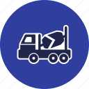 concrete mixer, heavy work, truck icon