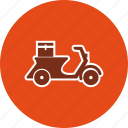 bike, courier, delivery, motor, motorbike, pizza, scooter icon