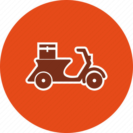 bike, courier, delivery bike icon