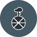 acrobat, circus, fun, pedal, unicycle, wheel icon
