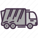 garbage, transport, trash, truck, vehicle