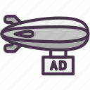 ad, advertising, airship, marketing