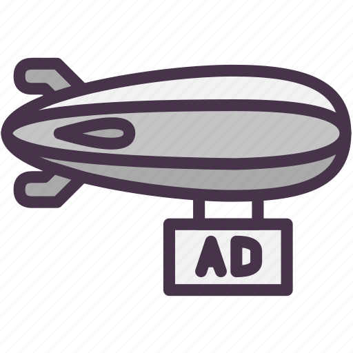Ad, advertising, airship, marketing icon - Download on Iconfinder