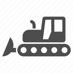 building, bulldozer, equipment, industrial, industry, machine, machinery icon