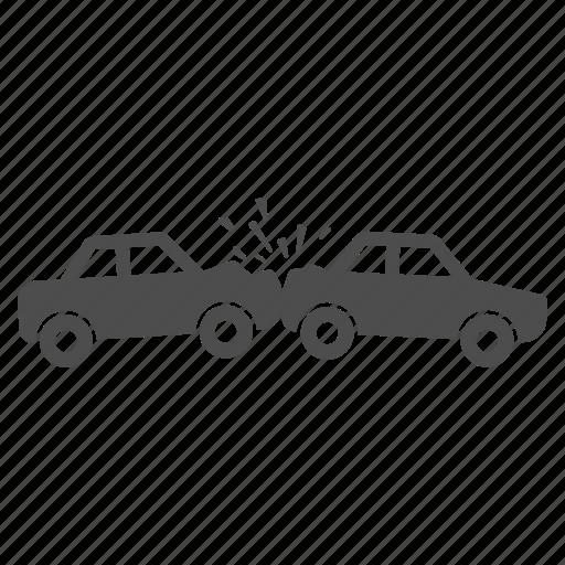 automobile, broken, car accident, crash, damage, danger, fall icon