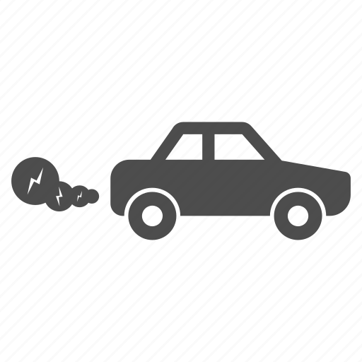 car, ecology, environment, pollution, smoke, traffic, vehicle icon