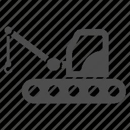 building, caterpillar crane, construction, engineering, equipment, industrial, industry icon