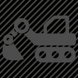 construction, engineering, equipment, excavator, industry, machine, machinery icon