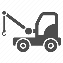 car, delivery, mobile crane, tow truck, transport, transportation, vehicle icon