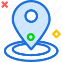 map, pin, point, travel icon