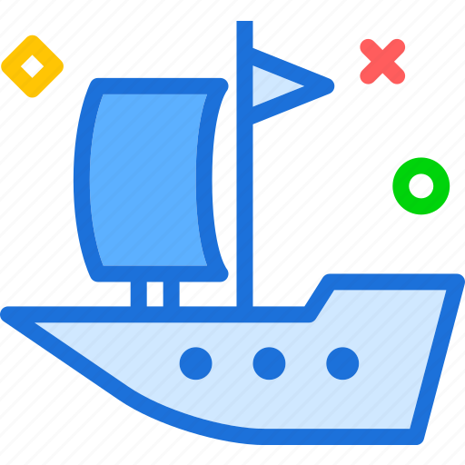 boat, sail, transport, travel, water icon