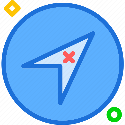 arrow, direction, location, map, pin, travel icon