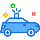 car, police, transport, travel, vehicle icon