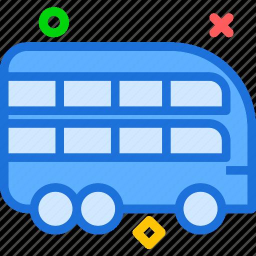 bus, doubledeck, transport icon
