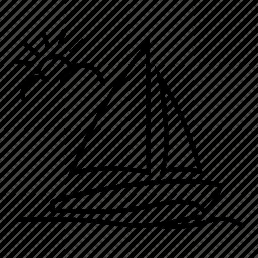fine sailboat, nice sailboat, sailboat, sailing, ship, transportation, yacht icon