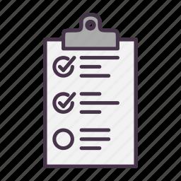 checklist, clipboard, list, report, tasks, todo icon