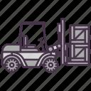 forklift, loader, shipping, wharehouse