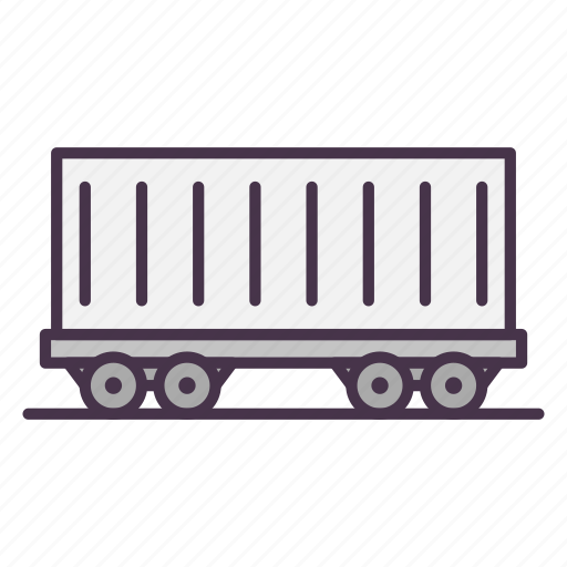 cargo container, cargo vehicle, carriage, container, railway, shipping, vehicle icon