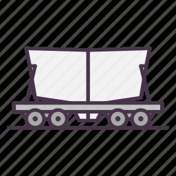 cement, railway, railway carriage, sand icon