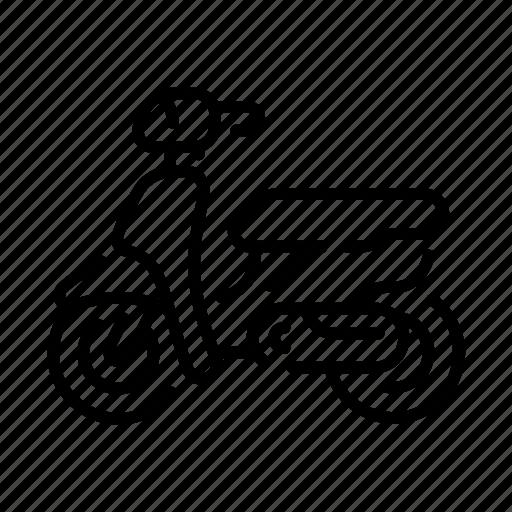 journey, motor, motorbike, motorcycle, motorcyclist, vehicle, wheel icon
