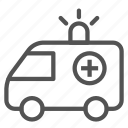 ambulance, car, siren, truck, vehicle icon