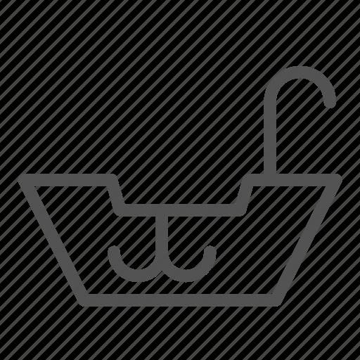 anchor, boat, fishing, ship, small icon