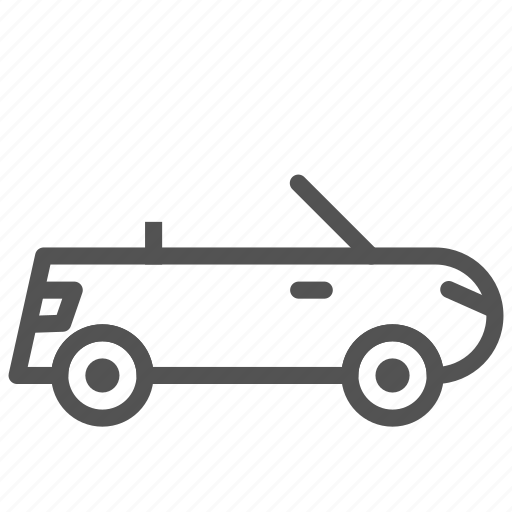 car, convertible, personal, vehicle icon