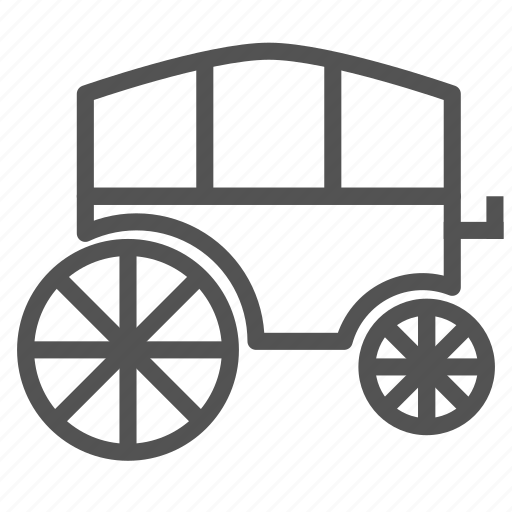 carriage, horses, transport, vehicle icon
