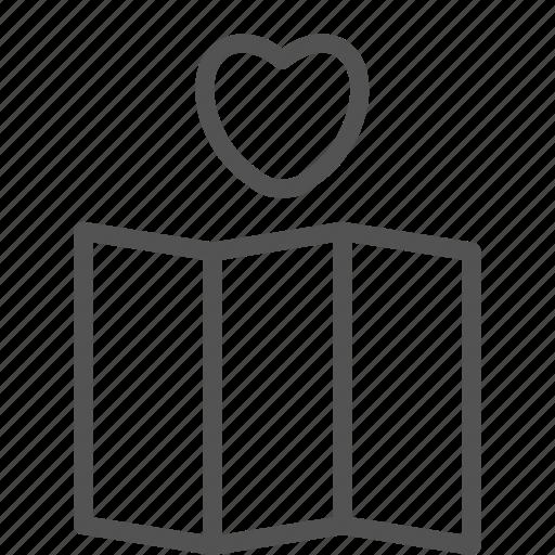 heart, location, love, map, mark icon