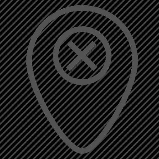 cancel, deny, mark, pin, point icon