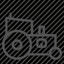 farm, labor, tractor, truck, vehicle icon