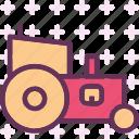 build, farm, heavy, tractor, work icon