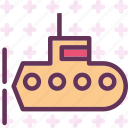army, heavy, submarine, underwater, war, weapon icon