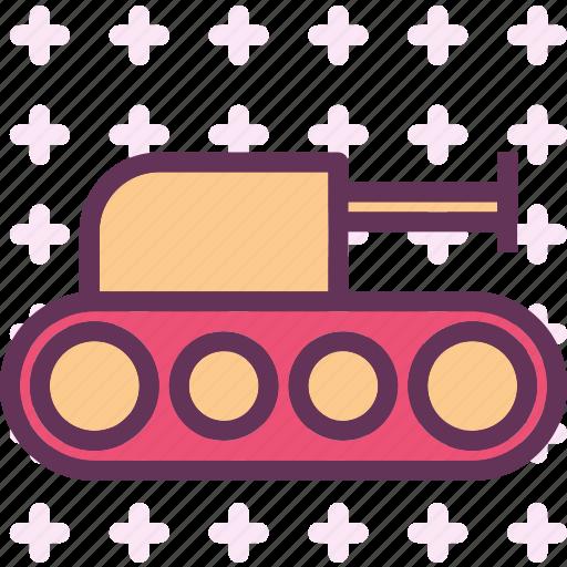 army, artilery, heavy, tank, war, weapon icon