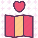 heartmap, location, pin, travel icon