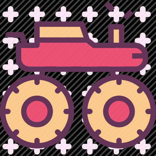 heavy, monster, transportation, truck icon