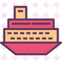 huge, ship, titanic, trasnsport icon