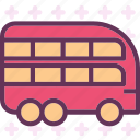 ation, bus, doubledeck, transport icon