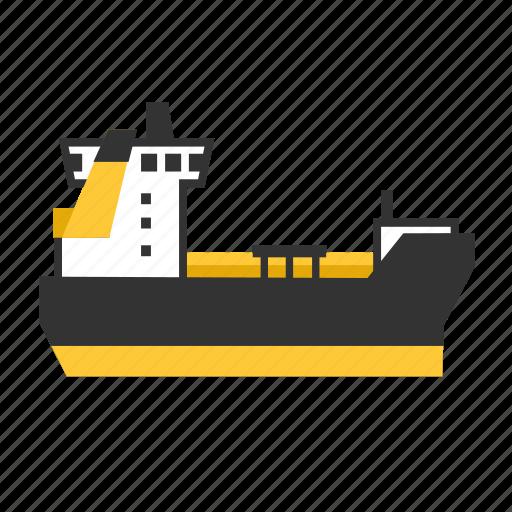 gas, ice, liquid, ship, tanker, transport icon
