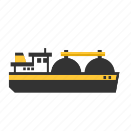 fuel, gas, inland, liquid, small, tanker, transport icon