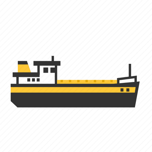 carrier, inland, river, ship, small, transport icon