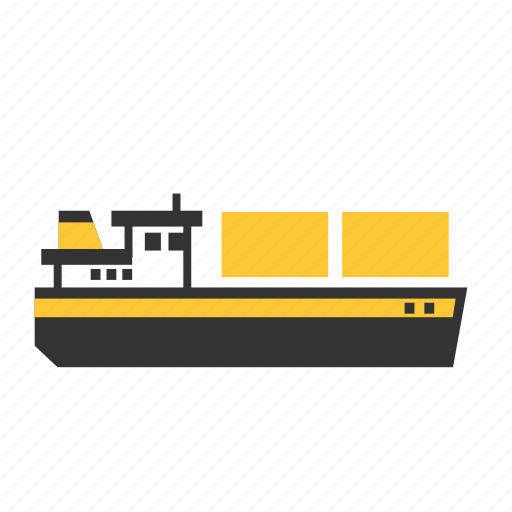 boat, carrier, container, inland, river, ship, transport icon
