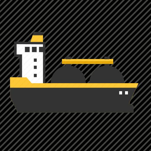 fuel, gas, liquid, ship, tanker, transport icon
