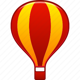 aerostat, air trip, airship, balloon, baloon, flight, fly icon