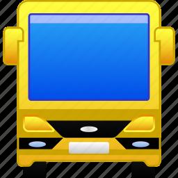 tourist bus, transfer, transport, transportation, travel, trip, vehicle icon