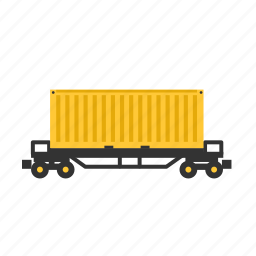 container, goods, shipment, train, transport, wagon icon